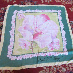 Carleton Varney Cherry Blossom Spring Silk Scarf